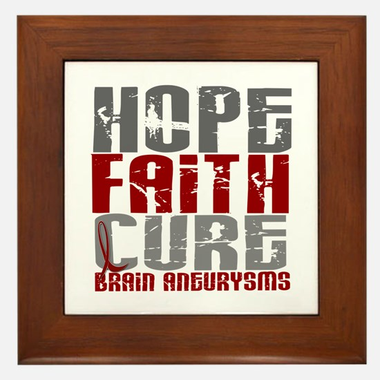 Brain Aneurysm HopeFaithCure1 Framed Tile