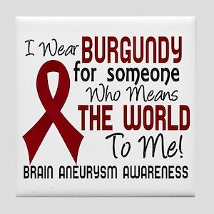 Brain Aneurysm MeansWorldToMe2 Tile Coaster