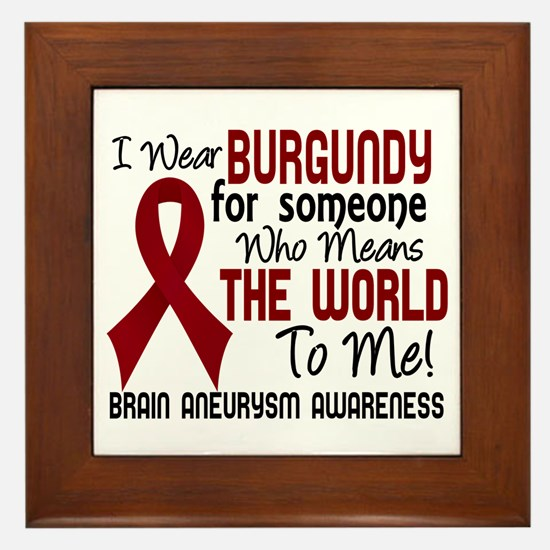 Brain Aneurysm MeansWorldToMe2 Framed Tile