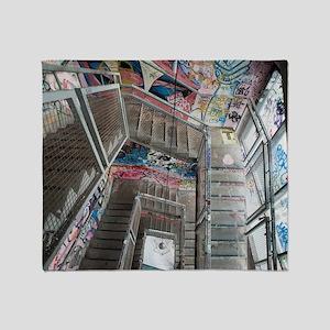 Kunsthaus Tacheles Staircase Throw Blanket