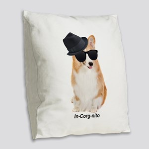 In-Corg-nito Burlap Throw Pillow