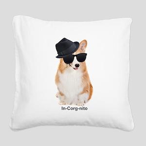 In-Corg-nito Square Canvas Pillow