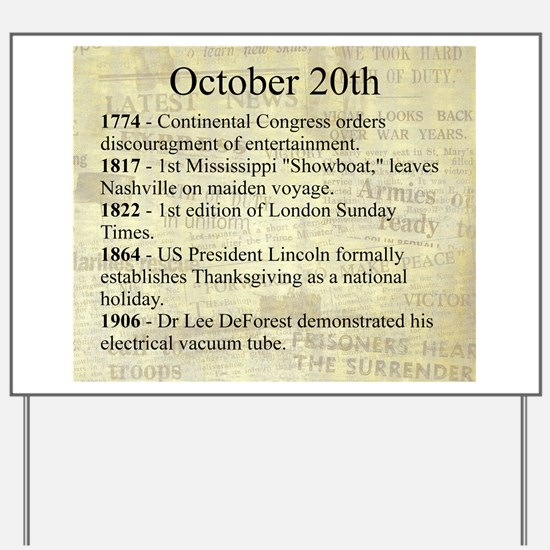 October 20th Yard Sign