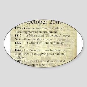 October 20th Sticker