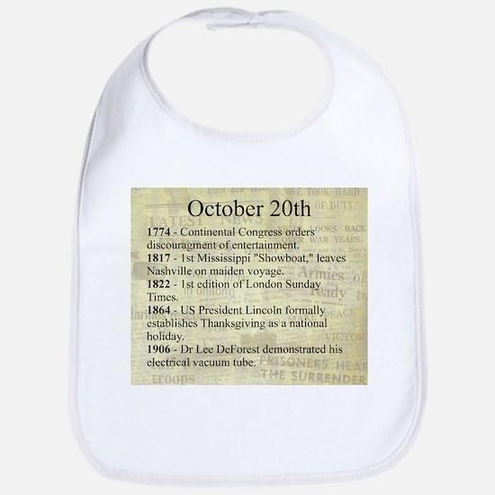 October 20th Bib