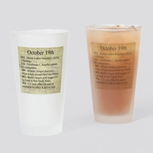 October 19th Drinking Glass