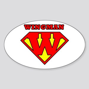 Wingman Oval Sticker