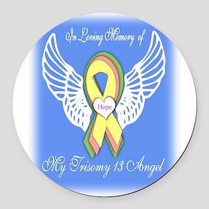 Trisomy Angel Round Car Magnet
