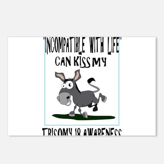 Trisomy 18 Donkey Postcards (Package of 8)