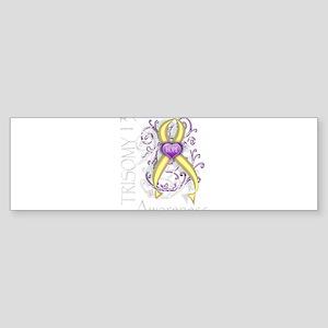 trisomy 13 Sticker (Bumper)