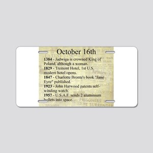 October 16th Aluminum License Plate