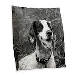 dog portrait Burlap Throw Pillow