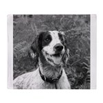 dog portrait Throw Blanket