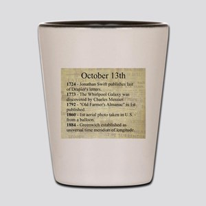 October 13th Shot Glass