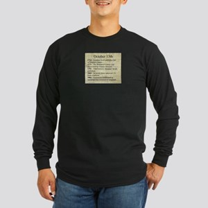 October 13th Long Sleeve T-Shirt