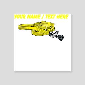 Custom Yellow Fire Hose Sticker