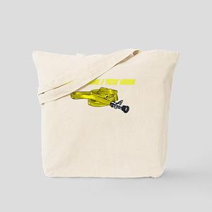 Custom Yellow Fire Hose Tote Bag