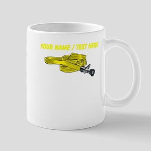 Custom Yellow Fire Hose Mugs