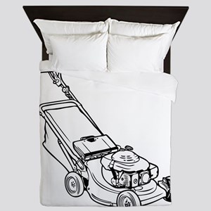 Custom Push Lawnmower Queen Duvet