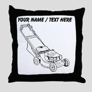 Custom Push Lawnmower Throw Pillow