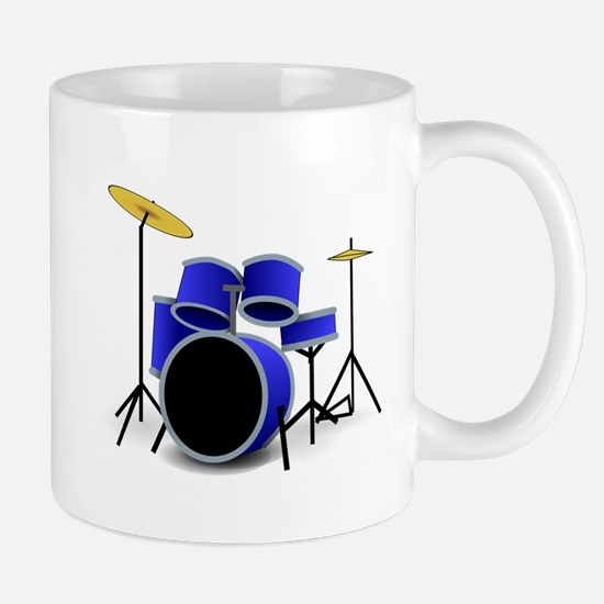 Blue Drum Set Mugs