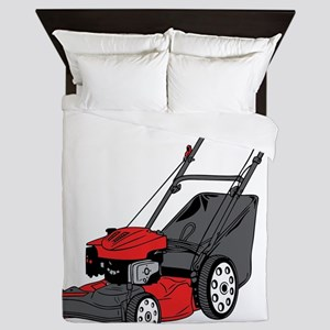 Custom Red Lawnmower Queen Duvet