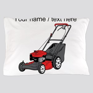 Custom Red Lawnmower Pillow Case
