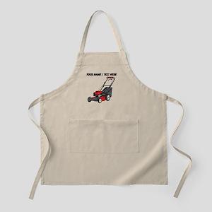 Custom Red Lawnmower Apron