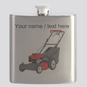 Custom Red Lawnmower Flask