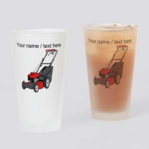 Custom Red Lawnmower Drinking Glass