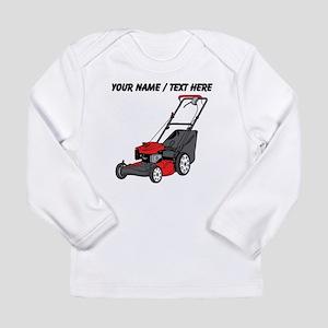 Custom Red Lawnmower Long Sleeve T-Shirt