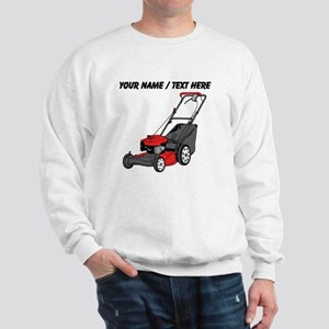 Custom Red Lawnmower Sweatshirt