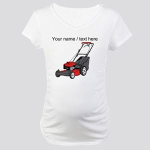 Custom Red Lawnmower Maternity T-Shirt