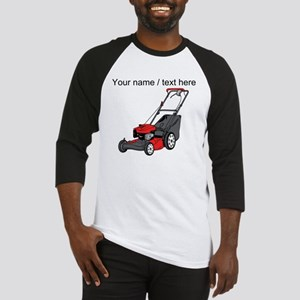 Custom Red Lawnmower Baseball Jersey