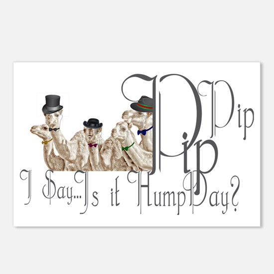 Top Hat Monocle Camels fo Postcards (Package of 8)