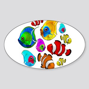 Tropical Fishes Pattern Sticker