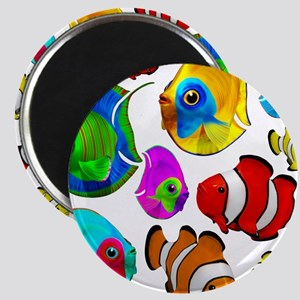 Tropical Fishes Pattern Magnets