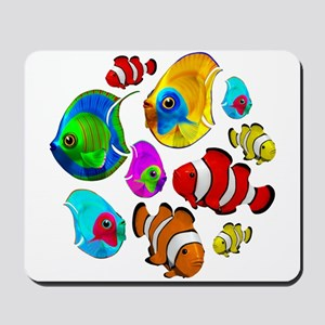 Tropical Fishes Pattern Mousepad