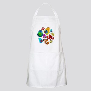 Tropical Fishes Pattern Apron