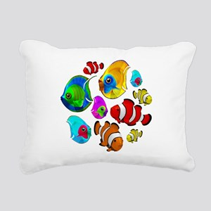 Tropical Fishes Pattern Rectangular Canvas Pillow