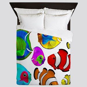 Tropical Fishes Pattern Queen Duvet