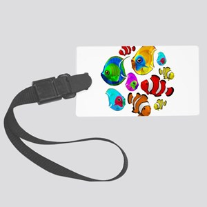 Tropical Fishes Pattern Luggage Tag
