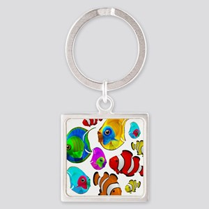 Tropical Fishes Pattern Keychains