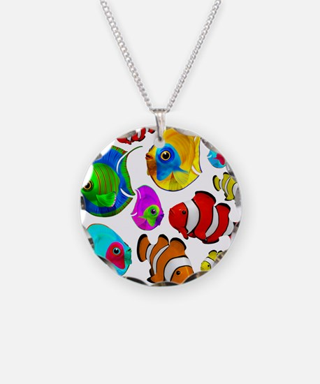 Tropical Fishes Pattern Necklace