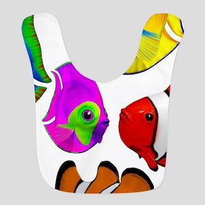 Tropical Fishes Pattern Bib
