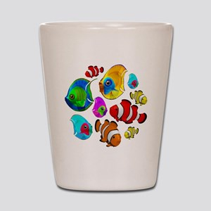 Tropical Fishes Pattern Shot Glass