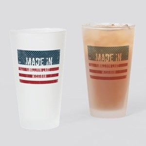 Made in Walloon Lake, Michigan Drinking Glass