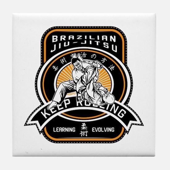 Cute Brazilian jiu jitsu Tile Coaster