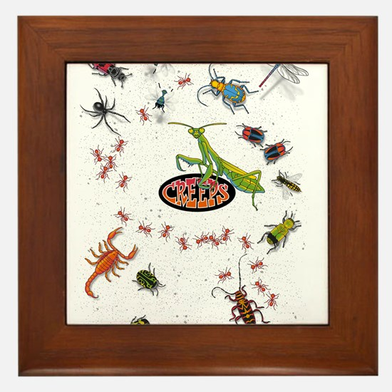 Unique Bugs Framed Tile