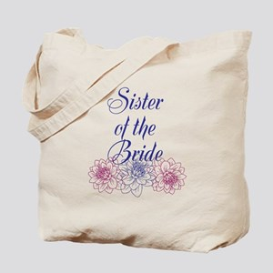 Purple Sister of the Bride Tote Bag